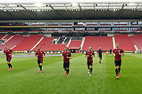 24th May 2020, Opel Arena, Mainz, Rhineland-Palatinate, Germany; Bundesliga football; Mainz 05 versus RB Leipzig;  Lukas Klostermann (RB Leipzig), Timo Werner (RB Leipzig), Marcel Sabitzer (RB Leipzig), Kevin Kampl (RB Leipzig), Marcel Halstenberg (RB Leipzig) during warmup