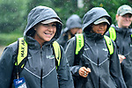 TAMPA, FL - MAY 20:  Head Coach Kathy Taylor of the Le Moyne Dolphins walks to the field with her team against the Florida Southern Mocs during the Division II Women's Lacrosse Championship held at the Naimoli Family Athletic and Intramural Complex on the University of Tampa campus on May 20, 2018 in Tampa, Florida. Le Moyne defeated Florida Southern 16-11 for the national title. (Photo by Jamie Schwaberow/NCAA Photos via Getty Images)