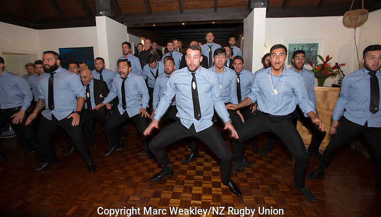 Blade Thomson (C). Post-match function at the NZ High Commission, Suva. July 11, 2015. Photo: Marc Weakley
