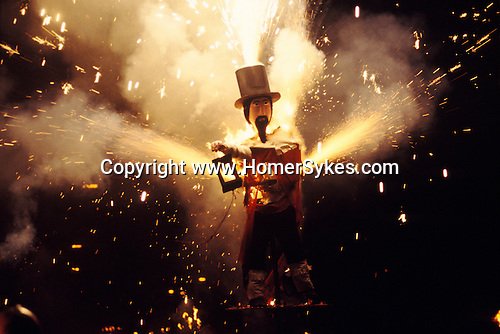 Guy Fawkes November 5th Bonfire night Lewis Sussex Uk