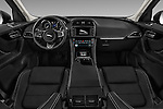 Stock photo of straight dashboard view of 2017 Jaguar F-PACE 20d-R-Sport-AWD 5 Door SUV Dashboard