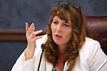 Nevada Assemblywoman Marilyn Kirkpatrick talks in committee on Thursday, April 28, 2011, at the Legislature in Carson City, Nev. .Photo by Cathleen Allison
