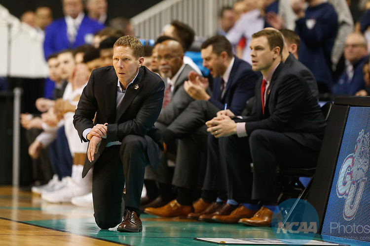 SAN JOSE, CA - MARCH 25: Head Coach Mark Few of the Gonzaga Bulldogs watches the action as his team takes on the Xavier University Musketeers during the 2017 NCAA Men's Basketball Tournament West Regional held at SAP Center on March 25, 2017 in San Jose, California. (Photo by Jed Jacobsohn/NCAA Photos via Getty Images)