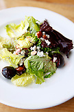 USA, California, San Francisco, food shot of a green organic salad at Greens restaurant, Fort Mason