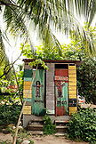 BELIZE, Hopkins, bathroms at the Lebeha Drumming Center and Cabanas
