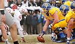 BROOKINGS, SD - NOVEMBER 22:  University of South Dakota battles South Dakota State University at Coughlin Alumni Stadium Saturday in Brookings.  (Photo by Dave Eggen/Inertia)