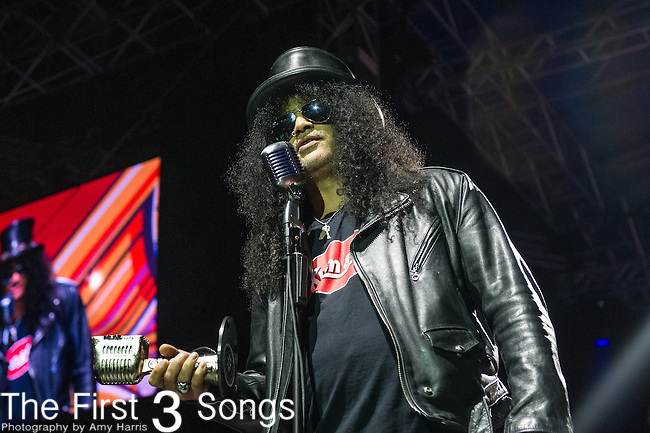 Slash at the 2014 AP Music Awards at the Rock And Roll Hall Of Fame and Museum at North Coast Harbor in Cleveland, Ohio.