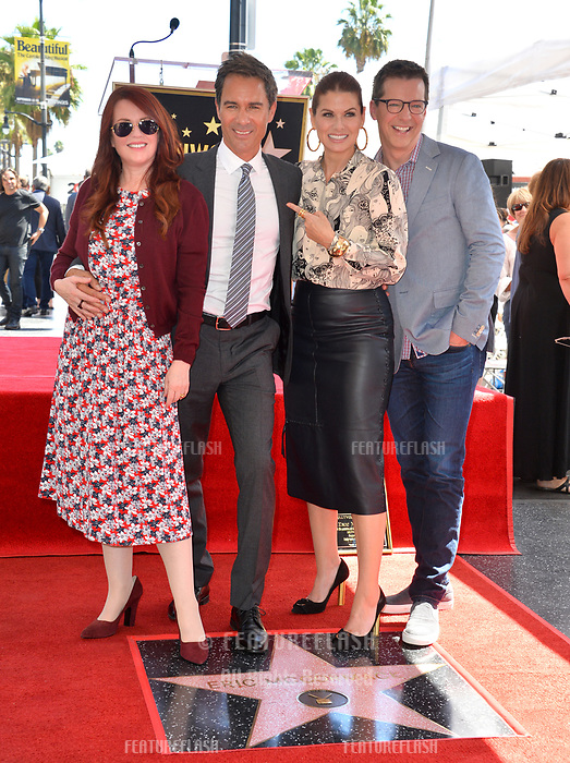 "LOS ANGELES, CA. September 13, 2018: Megan Mullally, Eric McCormack, Debra Messing & Sean Hayes at the Hollywood Walk of Fame Star Ceremony honoring ""Will & Grace"" star Eric McCormack."