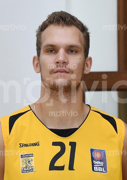 Basketball 1. Bundesliga 2014/2015 Walter Tigers Tuebingen       01.09.2014 Anatoly Kashirov (Tigers)