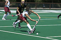2 September 2004: Caroline Hussey during Stanford's 3-1 loss to Iowa at the varsity field hockey turf in Stanford, CA.