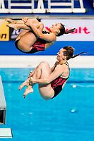 BARTH Vivian, FAVRE Jessica-Floriane SUI<br /> Diving <br /> Women's 3m Synchro Springboard Preliminary<br /> Day 04 17/07/2017 <br /> XVII FINA World Championships Aquatics<br /> Duna Arena Budapest Hungary July 15th - 30th 2017 <br /> Photo @A.Masini/Deepbluemedia/Insidefoto