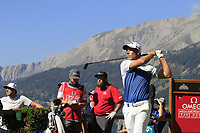 Nino Bertasio (ITA) tees off the 7th tee during Saturday's Round 3 of the 2018 Omega European Masters, held at the Golf Club Crans-Sur-Sierre, Crans Montana, Switzerland. 8th September 2018.<br /> Picture: Eoin Clarke | Golffile<br /> <br /> <br /> All photos usage must carry mandatory copyright credit (&copy; Golffile | Eoin Clarke)