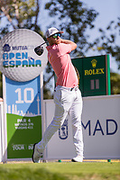 Jens Danthorp (SWE) on the 10th tee during the third round of the Mutuactivos Open de Espana, Club de Campo Villa de Madrid, Madrid, Madrid, Spain. 05/10/2019.<br /> Picture Hugo Alcalde / Golffile.ie<br /> <br /> All photo usage must carry mandatory copyright credit (© Golffile | Hugo Alcalde)