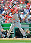 12 April 2012: Cincinnati Reds outfielder Ryan Ludwick in action against the Washington Nationals at Nationals Park in Washington, DC. The Nationals defeated the Reds 3-2 in 10 innings to take the first game of their 4-game series. Mandatory Credit: Ed Wolfstein Photo