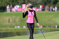 Natalie Gulbis (USA) putts on the 5th green during Thursday's Round 1 of The Evian Championship 2018, held at the Evian Resort Golf Club, Evian-les-Bains, France. 13th September 2018.<br /> Picture: Eoin Clarke | Golffile<br /> <br /> <br /> All photos usage must carry mandatory copyright credit (© Golffile | Eoin Clarke)