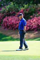Sandy Lyle (SCO) on the 13th green during the 1st round at the The Masters , Augusta National, Augusta, Georgia, USA. 11/04/2019.<br /> Picture Fran Caffrey / Golffile.ie<br /> <br /> All photo usage must carry mandatory copyright credit (© Golffile | Fran Caffrey)
