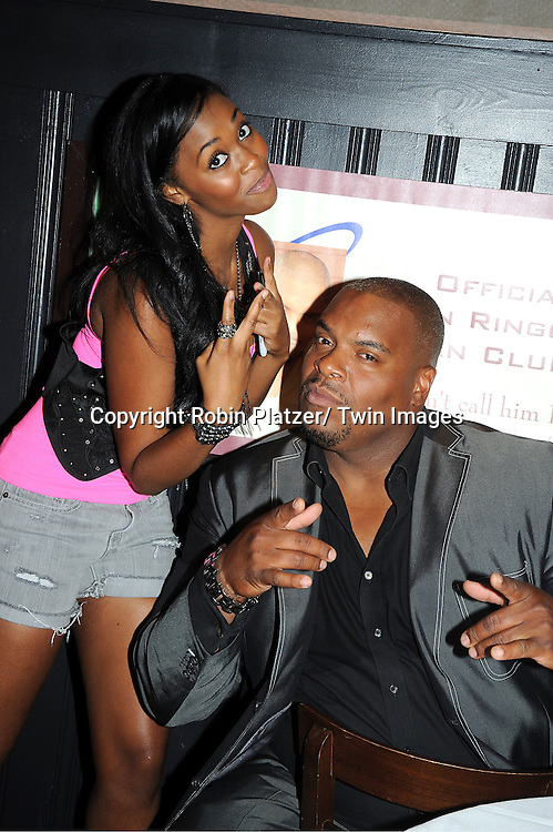 Nafessa Williams and Sean Ringgold attending the 5th Annual Sean Ringgold Fan Club Party on August 12, 2011 at HB Burger's Sunken Bar in New York City.