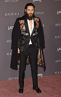 LOS ANGELES, CA - NOVEMBER 04: Actor/musician Jared Leto attends the 2017 LACMA Art + Film Gala Honoring Mark Bradford and George Lucas presented by Gucci at LACMA on November 4, 2017 in Los Angeles, California.<br /> CAP/ROT/TM<br /> &copy;TM/ROT/Capital Pictures