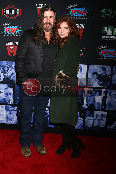 """Justin Lyons, Brigid Brannagh<br /> at """"Excelsior! A Celebration of the Amazing, Fantastic, Incredible & Uncanny Life of Stan Lee,"""" TCL Chinese Theater, Hollywood, CA 01-30-19<br /> David Edwards/DailyCeleb.com 818-249-4998"""