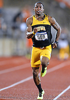 May 24, 2013: Justin Austin of Iowa #500 competes in 100 meter dash during Quarterfinal of NCAA Outdoor Track & Field Championships West Preliminary at Mike A. Myers Stadium in Austin, TX.