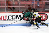 Kyle Greco (PSU - 9), Reed Rushing (WIT - 8) - The visiting Plymouth State University Panthers defeated the Wentworth Institute of Technology Leopards 2-1 on Monday, November 19, 2012, at Matthews Arena in Boston, Massachusetts.