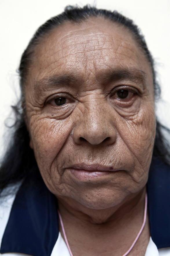 Portrait of Conchita, a resident of Casa Xochiquetzal, at the shelter in Mexico City on March 14, 2008. Casa Xochiquetzal is a shelter for elderly sex workers in Mexico City. It gives the women refuge, food, health services, a space to learn about their human rights and courses to help them rediscover their self-confidence and deal with traumatic aspects of their lives. Casa Xochiquetzal provides a space to age with dignity for a group of vulnerable women who are often invisible to society at large. It is the only such shelter existing in Latin America. Photo by Bénédicte Desrus