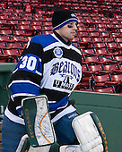 Billy Faust (UMB - 30) - The University of Massachusetts Boston Beacons defeated the Salem State University Vikings 4-2 (EN) on Tuesday, January 7, 2014, at Fenway Park in Boston, Massachusetts.