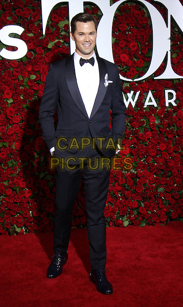 NEW YORK, NY-June 12: Andrew Rannells at the 70th Annual Tony Awards at the Beacon Theatre in New York. NY June 12, 2016. <br /> CAP/MPI/RW<br /> &copy;RW/MPI/Capital Pictures