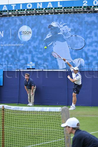 Lewis Burton of GBR v Igor Kunitsyn of RUS, at AEGON International Eastbourne. Kunitsyn won, 5-7 7-5 6-1 12.06.10