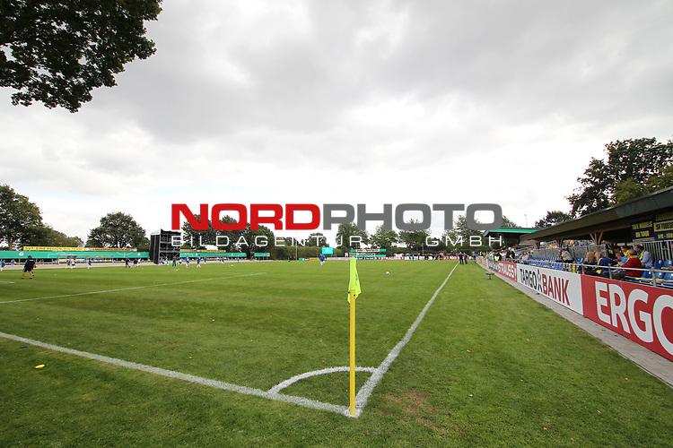 12.09.2020, JODA Sportpark, Todesfelde, GER, DFB-Pokal Runde1 SV Todesfelde vs. VfL Osnabrueck <br /> <br /> DFB REGULATIONS PROHIBIT ANY USE OF PHOTOGRAPHS AS IMAGE SEQUENCES AND/OR QUASI-VIDEO.<br /> <br /> im Bild / picture shows<br /> Jorda Sportpark des SV Todesfelde<br /> <br /> <br /> Foto © nordphoto / Tauchnitz
