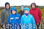 Well wrapped up for the very cold conditions at last Sunday's Circuit of Kerry Rally near Clogher, Ballymac were l-r: Martin and Richard Williams, Owen Fitzgerald, Marie Williams and Shane Fitzgerald all Tralee and Ardfert.