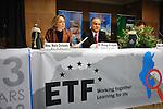"DJERBA - TUNISIA - 13 March 2012 -- European Training Foundation (ETF) / Tunisian Ministry of Vocational Training and Employment (MFPE) Project Launch -  ""Human Capital for Regional Socio-Economic Development (Medenine, Tunisia)"". --  (L) Marie DORLEANS, ETF Tunisia; (R) Jameleddine GHARBI, Minister of Regional Development and Planning -- PHOTO: Lindsay MACKENZIE / EUP-IMAGES."