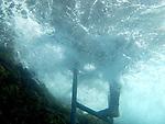 Samsara house reef ladder and Owen's foot