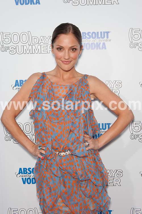 "**ALL ROUND PICTURES FROM SOLARPIX.COM**.**SYNDICATION RIGHTS FOR UK, AUSTRALIA, DENMARK, PORTUGAL, S. AFRICA, SPAIN & DUBAI (U.A.E) ONLY**.""(500) Days of Summer"" Los Angeles Premiere at the Egyptian Theater, Hollywood, CA, USA. June 24, 2009..This pic: Minka Kelly..JOB REF: 9335 PHZ (Hatcher)   DATE: 24_06_2009.**MUST CREDIT SOLARPIX.COM OR DOUBLE FEE WILL BE CHARGED**.**ONLINE USAGE FEE GBP 50.00 PER PICTURE - NOTIFICATION OF USAGE TO PHOTO @ SOLARPIX.COM**.**CALL SOLARPIX : +34 952 811 768 or LOW RATE FROM UK 0844 617 7637**"