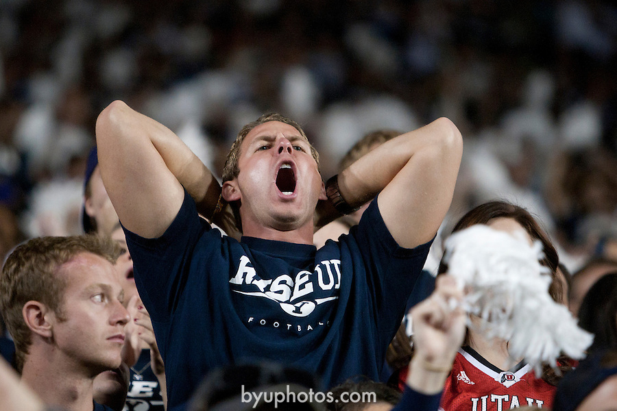 _JSW8478.jpg..11BYU Football vs Utah ..The BYU Football Team falls to the University of Utah 54-10 in Provo Utah on September 17, 2011...September 17, 2011..Photo by Jonathan Hardy/BYU..© BYU PHOTO 2011.All Rights Reserved.photo@byu.edu  (801)422-7322