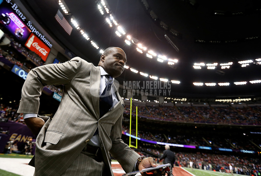 Feb 3, 2013; New Orleans, LA, USA; NFLPA executive director DeMaurice Smith in attendance Super Bowl XLVII between the San Francisco 49ers and the Baltimore Ravens at the Mercedes-Benz Superdome. Mandatory Credit: Mark J. Rebilas-