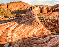 "The ""Fire Wave"" at the Valley of Fire State Park in Nevada."