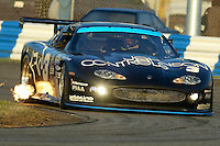 The #3 Jagaur Ford of Paul Gentilozzi, Scott Pruett, Brian Simo, and Michael Lauer races to a 5th place finish in the 24 Hours of Daytona, Daytona International Speedway, Daytona Beach, FL, February 3, 2002.  (Photo by Brian Cleary/www.bcpix.com)