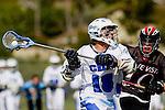 Corona Del Mar, CA 04/06/10 - Parker Ewles (Corona Del Mar #18) in action during the Corona Del Mar-Danville/Monte Vista lacrosse game.