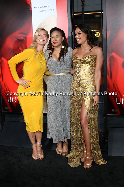 """LOS ANGELES - APR 18:  Zoe Bell, Tracie Thoms, Rosario Dawson at the """"Unforgettable"""" Premiere at TCL Chinese Theater IMAX on April 18, 2017 in Los Angeles, CA"""