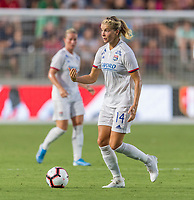 Cary, NC - August 18, 2019:  The North Carolina Courage lost to Olympique Lyonnais 1-0 during the finals of the Women's International Champions Cup at WakeMed Soccer Park.
