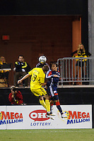25 OCTOBER 2009:  Robbie Rogers of the Columbus Crew (19) and Kevin Alston of the New England Revolution (30) during the New England Revolution at Columbus Crew MLS game in Columbus, Ohio on October 25, 2009.