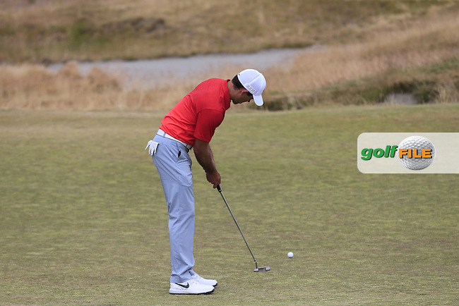 Charl Schwartzel (RSA) putts on the 15th green during Thursday's Round 1 of the 2015 U.S. Open 115th National Championship held at Chambers Bay, Seattle, Washington, USA. 6/19/2015.<br /> Picture: Golffile | Eoin Clarke<br /> <br /> <br /> <br /> <br /> All photo usage must carry mandatory copyright credit (&copy; Golffile | Eoin Clarke)