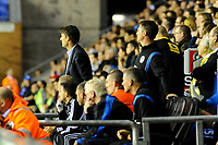 Tuesday, 7 May 2013<br /><br />Pictured: Michael Laudrup, Manager of Swansea City watches the game<br /><br />Re: Barclays Premier League Wigan Athletic v Swansea City FC  at the DW Stadium, Wigan