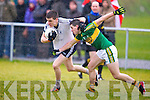 Kerry's Mikey Geaney tries to stop IT Tralee's Daniel O'Shea in the McGrath cup at John Mitchels on Sunday.
