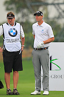 Nicolas Colsaerts (BEL) on the 4th tee during Thursday's Round 1 of the 2014 BMW Masters held at Lake Malaren, Shanghai, China 30th October 2014.<br /> Picture: Eoin Clarke www.golffile.ie
