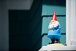 Gnome on a Blue House