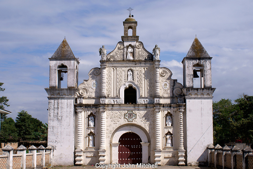 The restored 17th century church of La Merced in the Spanish colonial town of Gracias, Lempira, Honduras...