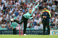 Gareth Batty in bowling action for Surrey during Surrey vs Essex Eagles, Vitality Blast T20 Cricket at the Kia Oval on 12th July 2018