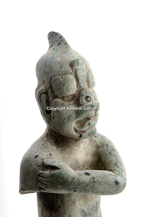 Maya Rise and Fall,   Waka,  El Peru,  artifacts, Olmec Figurine, Heirloom artifact, David Friedel, Guatemala